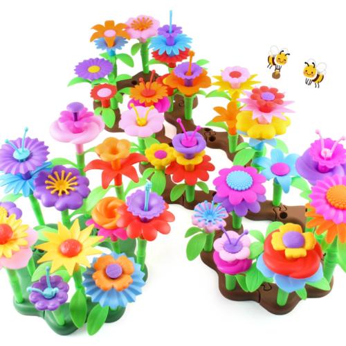 BUILD A GARDEN FLOWER BUILDING STEM TOYS SET FOR KIDS