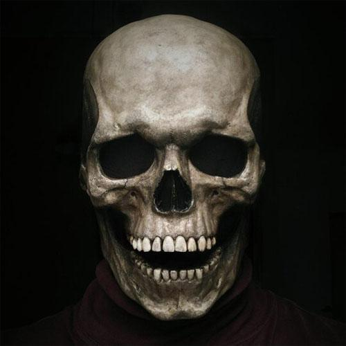 Full Head Skull Mask/Helmet with Movable Jaw
