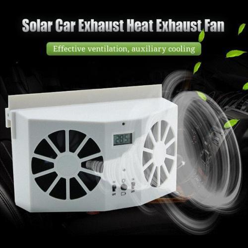 Solar Car Exhaust Heat  Fan