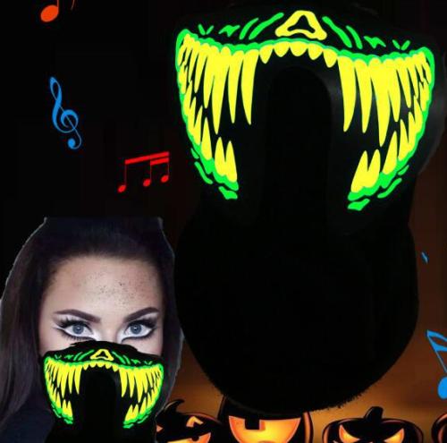 Halloweenio Led Scary Mask