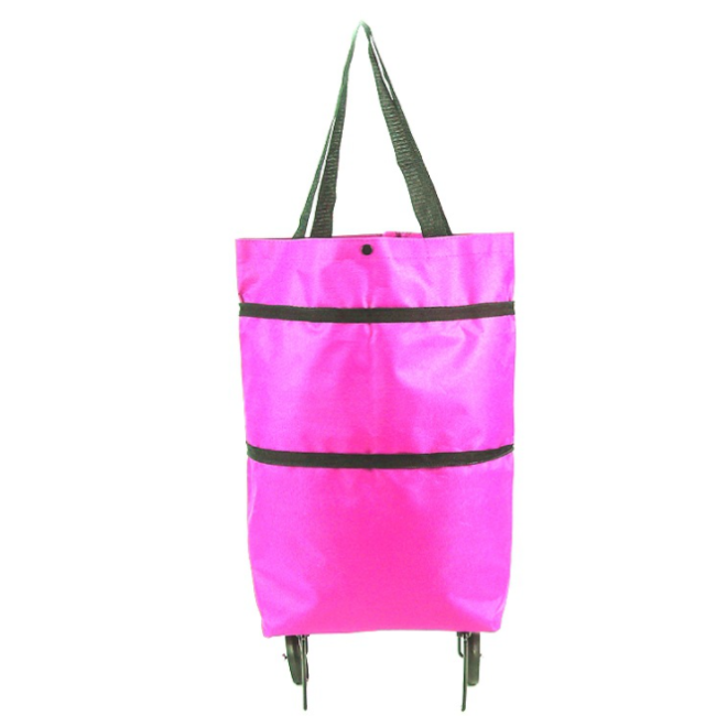 2 in 1 Foldable Shopping Cart - Foldable Basket (Premium Quality)