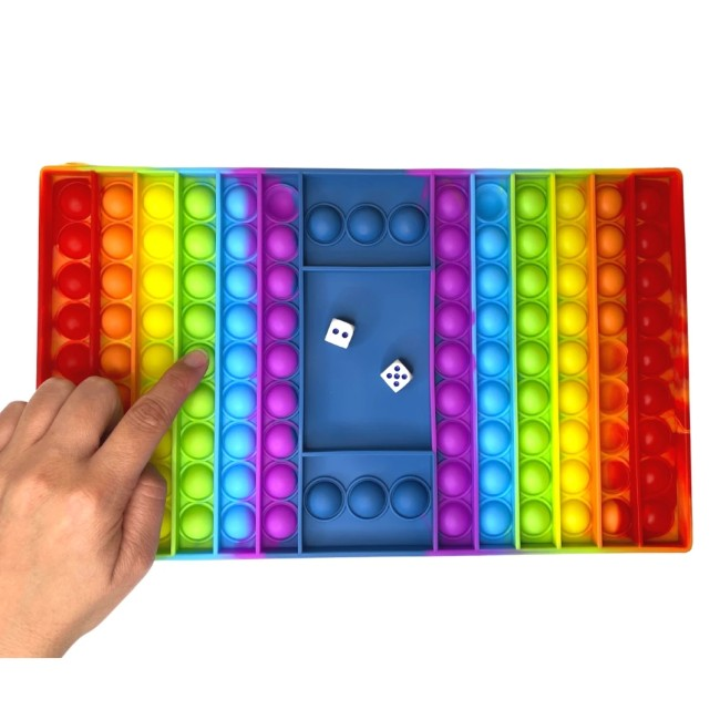 Giant JUMBO Rainbow Pop It Board Sensory Game
