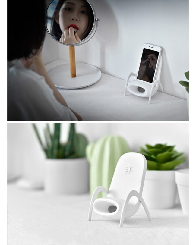 PORTABLE MINI CHAIR WIRELESS CHARGER SUPPLY FOR ALL PHONES