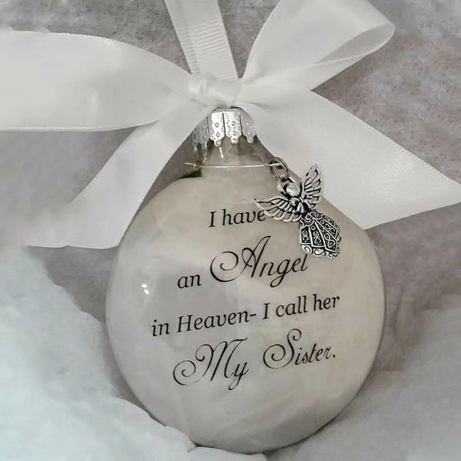 Christmas ornaments feather ball - Angel In Heaven Memorial Ornament