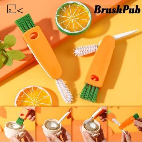 3 in 1 Bottle Cap Detail Brush Multifunctional Cleaning Brush