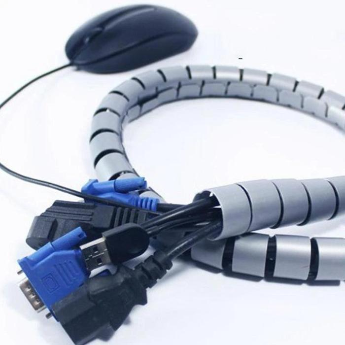 Flexible Spiral Cable Zip Wrap Tidy Organizer Wire Cord Management