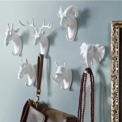 Art Animal Head Wall Hook