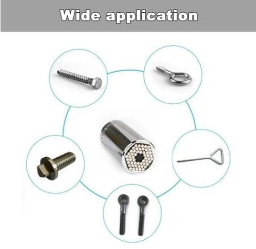 2 Pcs Universal Wrench Head Socket