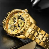 Golden Luxury Waterproof Fashion Watch