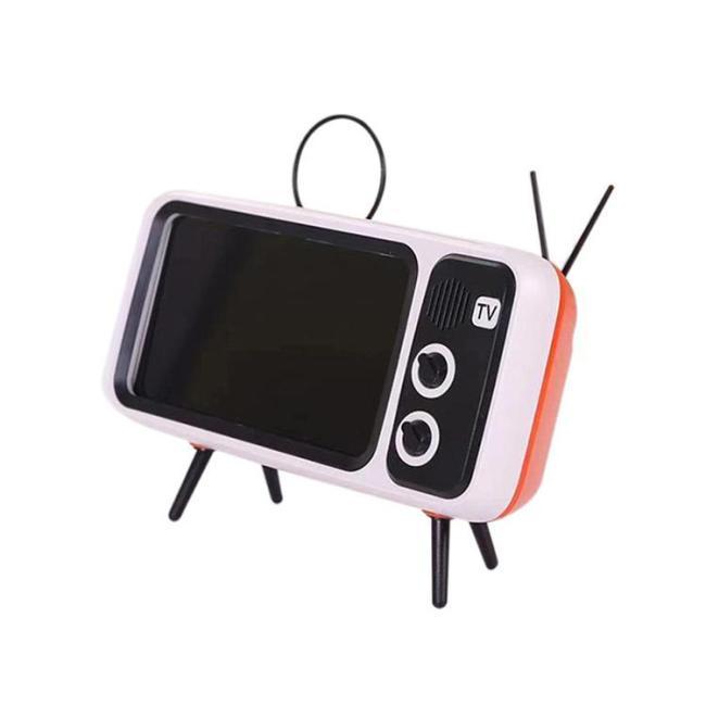 Retro TV Bluetooth Speaker Mobile Phone Holder