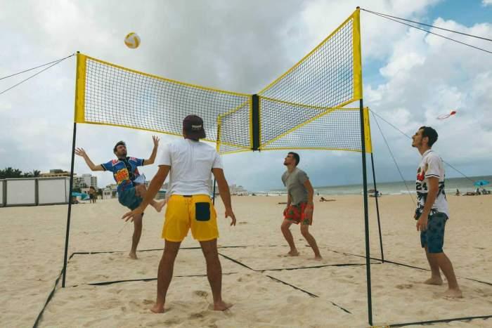 Cross volleyball net