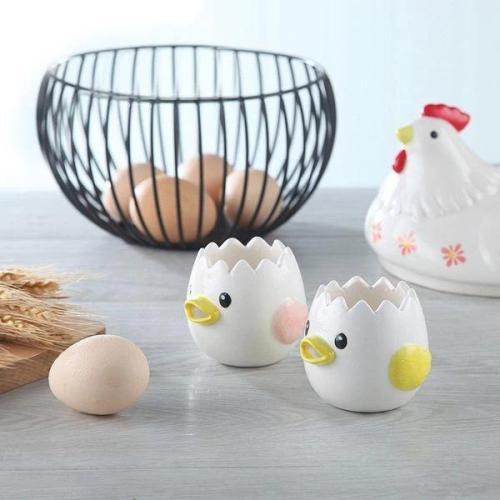 Cartoon Egg Yolk White Separator