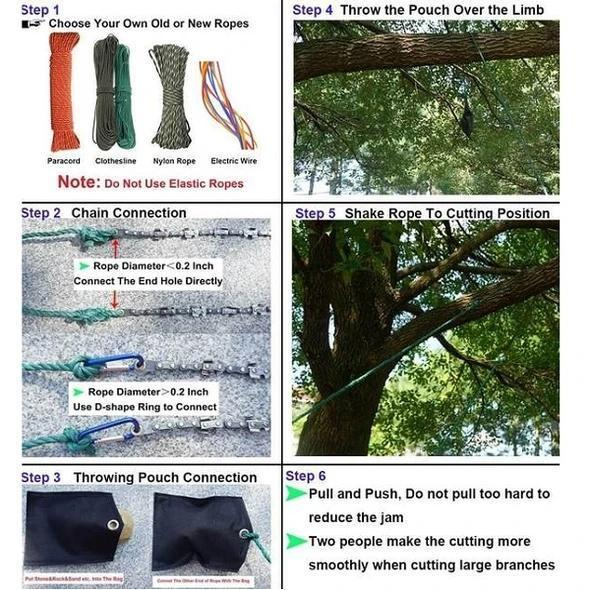 Gardening Pocket Chainsaw - is made from hardened steel and is up to 4 times stronger than ordinary steel