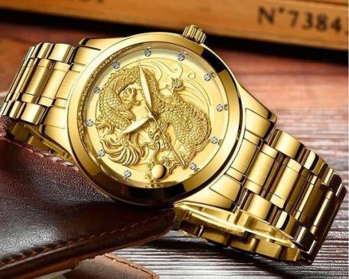 Golden Luxury Waterproof Fashion Watch