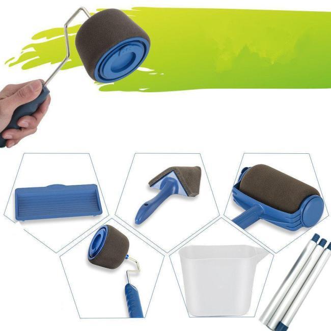 8 Pcs/Set Paint Roller Set Wall Painting Brush Set