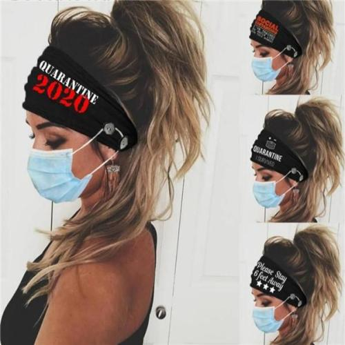 Quarantined Button headband