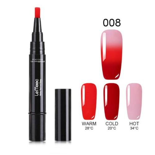 One Step Gel Nail Polish Pen, No Base Top Coat Need Soak Off UV LED Nail Varnish Nail Art Kit