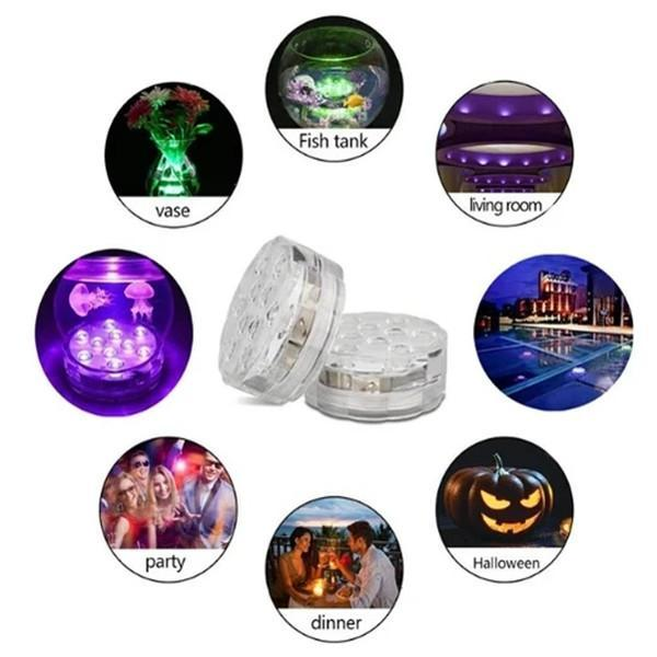 SUBMERSIBLE LED POOL LIGHTS WITH REMOTE CONTROL (RF)