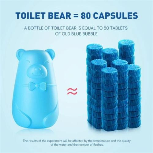 Bear Blue Bubble Toilet Toilet Deodorant Toilet treasure