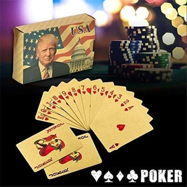 Trump 24k Gold Plated Playing Cards