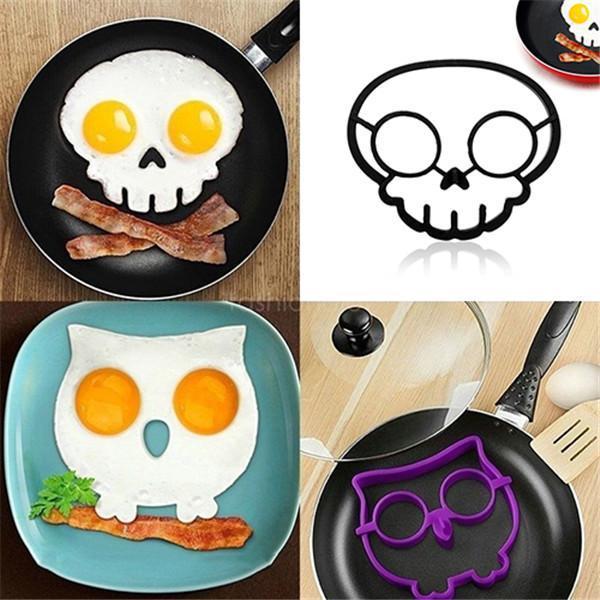 Halloween Horror Skull Fried Egg Mold