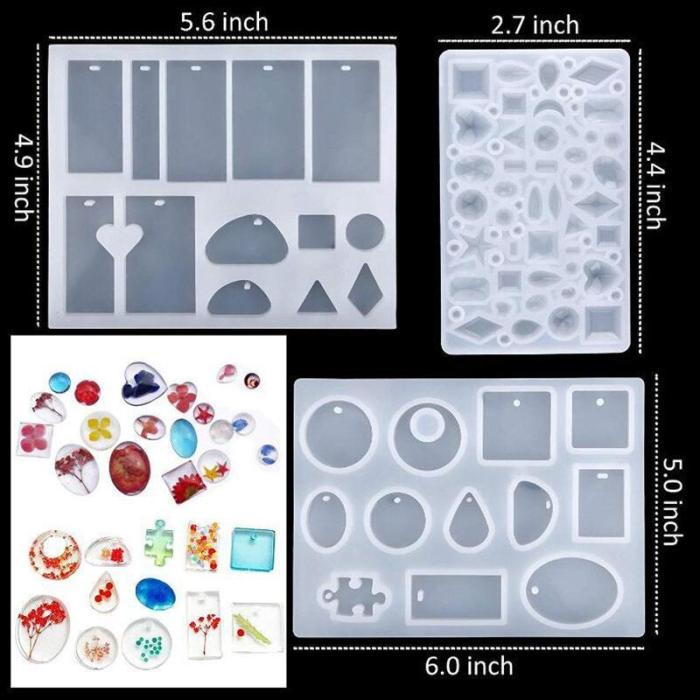 DIY Crystal Glue Jewelry Mold 83 Pcs Set