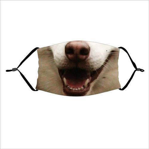 Animal Mouth Emoji Print Cloth Face Mask