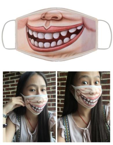 Mouth Emoji Print Cloth Face Mask