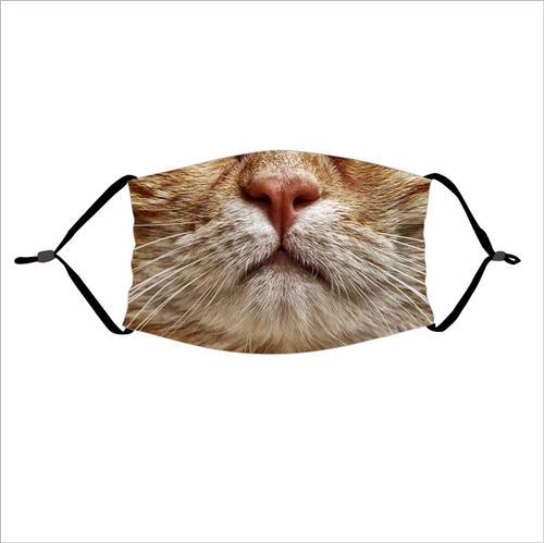 Animal Mouth Emoji Print Cloth Face Mask