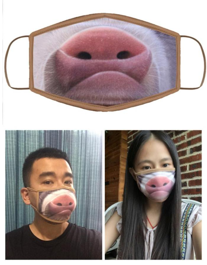 Mouth Emoji Print Cloth Face Mask