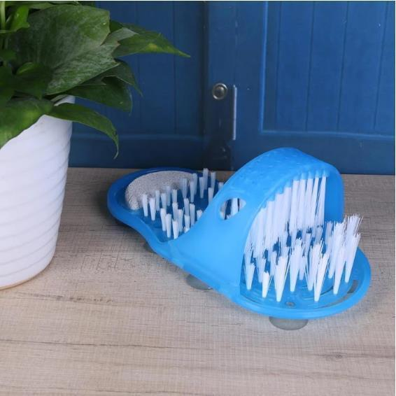 Foot Scrubber with Pumice Stone - Sticks firmly to almost any bath or shower