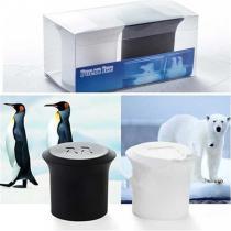 Polar Bear and Penguin Shape Ice Cube Molds