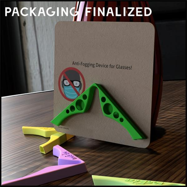 Accessory For Masks-Prevent Eyeglasses From Fogging