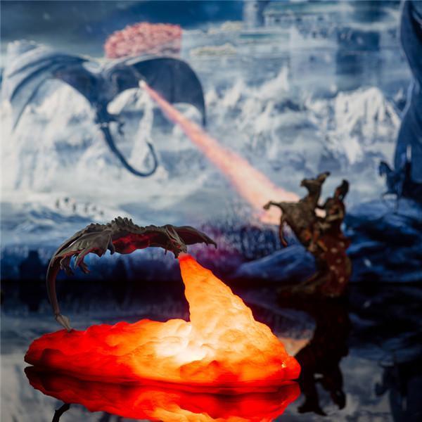 3D Fire-breathing Dragon Night Light