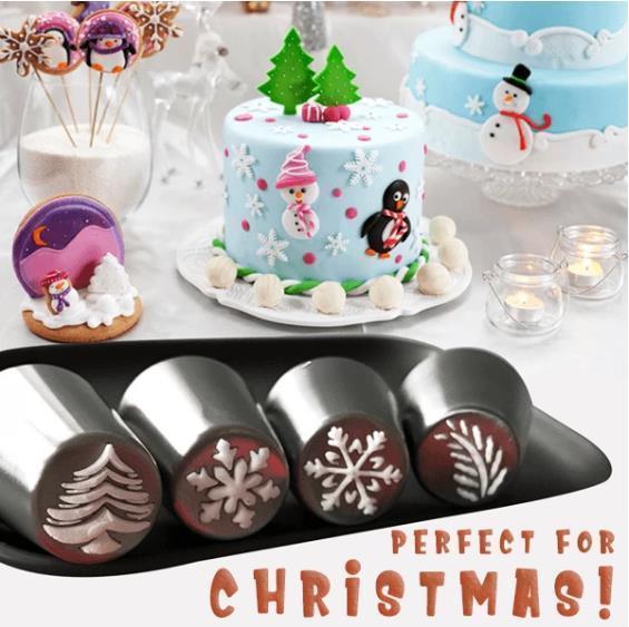 16 PCS Christmas Nozzles Pastry Set