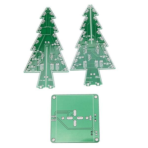 DIY Christmas Tree LED Flash Kit 3D Electronic Learning Kit - Colorful LED