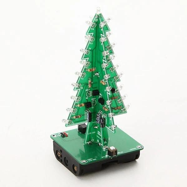 DIY Christmas Tree LED Flash Kit 3D Electronic Learning Kit - Colorful LED