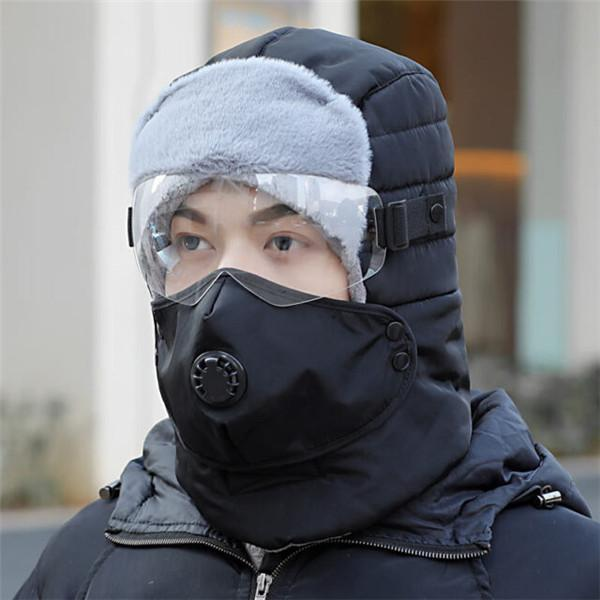 Full Protection Warm Waterproof Winter Hats With Glasses