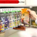 Refrigerator Slide-out Zip Food Storage Bags Holder Organizer