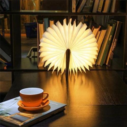Wood Book Lamp