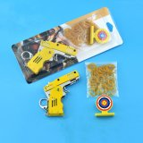 All Metal Mini Folding Rubber Band Gun Outdoor Sport Toy Keychain