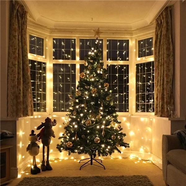 Christmas Smart Custom LED Decorative Rainbow Curtain Lights