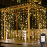 Christmas Smart Custom LED Decorative Rainbow Curtain Lights