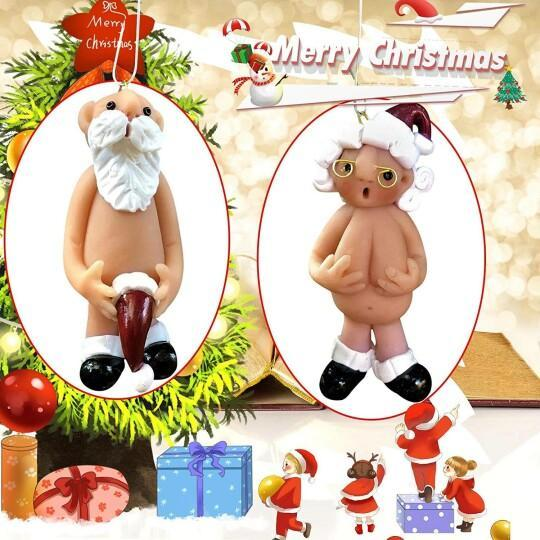 Mr Naughty Santa Claus With Stocking Hat Christmas Tree Ornament