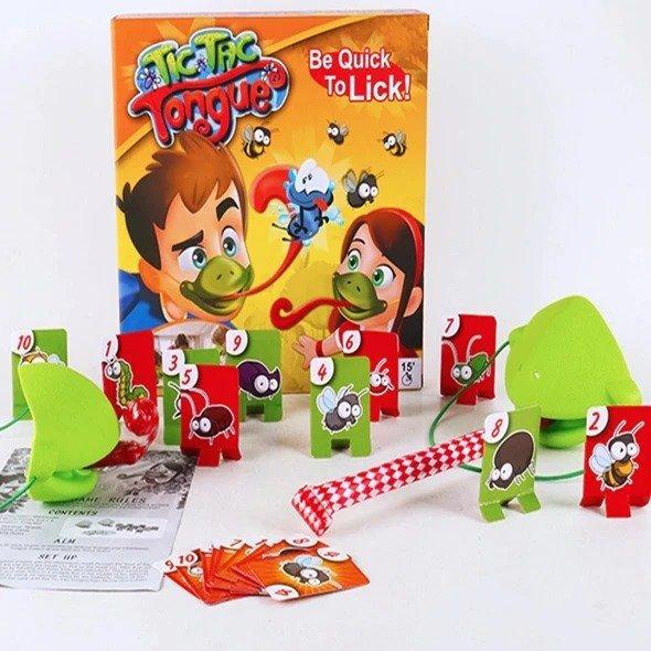 Chameleon Sticking Tongue Fun Board Game