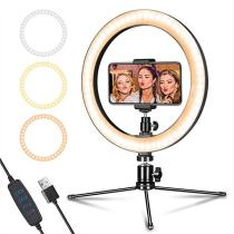 10  LED Ring Light with Tripod Stand & Phone Holder