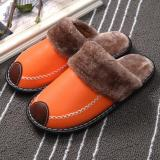 2020 Winter Comfortable Leather Waterproof And Warm Slippers