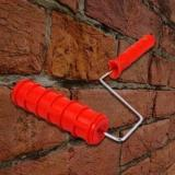 7 Inch 3D Brick Pattern Paint Roller With Handle Grip