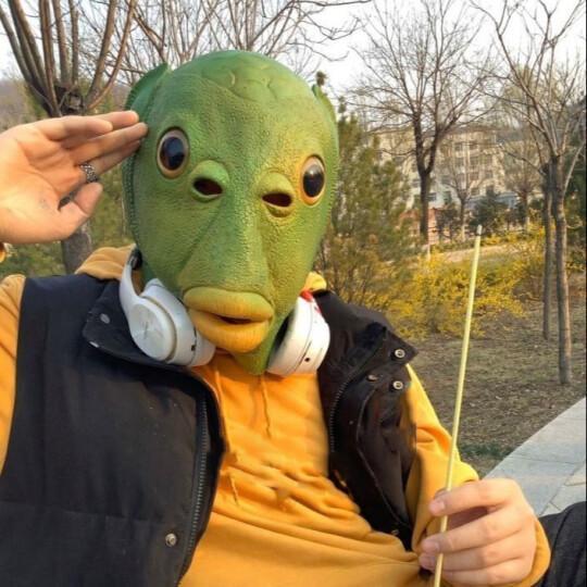 Newest Green Fish Head Mask