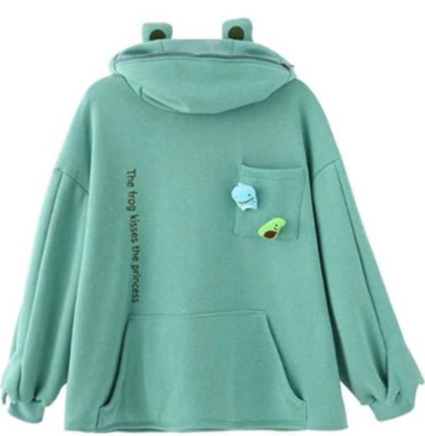 🐸Frog Zipper Hoodie Fleece Lined For Winter